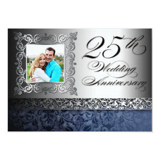 25th wedding anniversary photo invitations