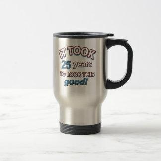 25th year birthday designs travel mug