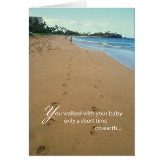 2668 Footprints on Beach Card