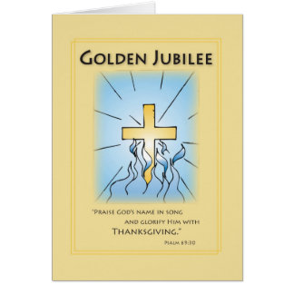 2680 Golden Jubilee Blue with Cross Card