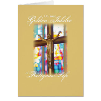 2683 Golden Jubilee Stained Glass Greeting Card