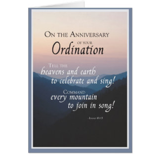 2687 Anniversary of Ordination Card