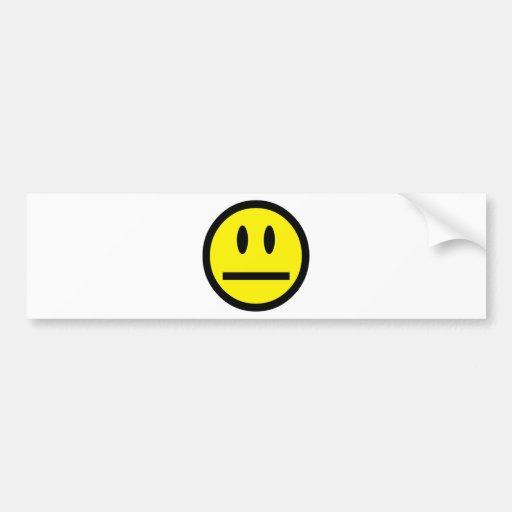 2697 QUIET YELLOW EMOTICON SMILIE SILENCE UNIMPRES BUMPER STICKER