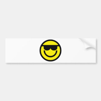 2699-Royalty-Free-Emoticon-With-Sunglasses COOL DU Bumper Stickers