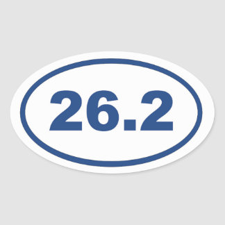 26.2 Blue Oval Sticker