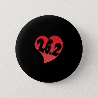 26.2 Heart 6 Cm Round Badge