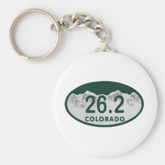 26.2 License oval Basic Round Button Key Ring