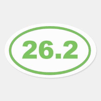 26.2 Light Green Oval Sticker