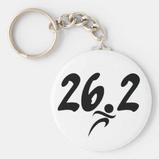 26.2 marathon basic round button key ring