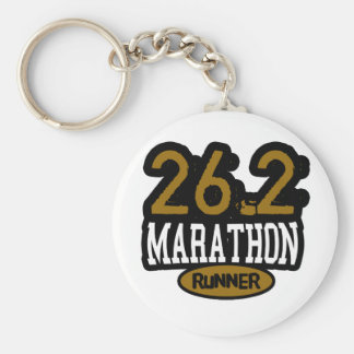 26.2 Marathon Runner Basic Round Button Key Ring