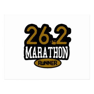 26.2 Marathon Runner Postcard
