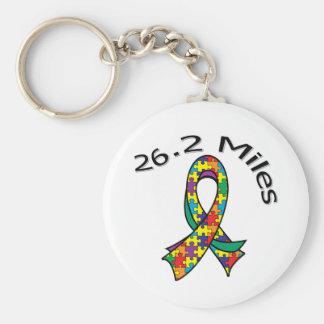 26 2 Miles Marathon Ribbon Autism Key Chains