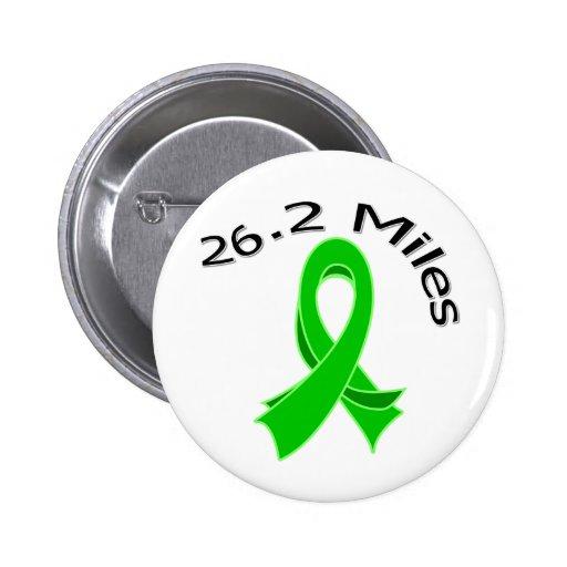 26.2 Miles Marathon Ribbon v2 Kidney Cancer Pinback Button