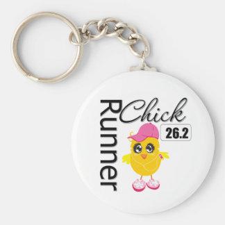 26 2 Miles Marathon Runner Chick Keychain