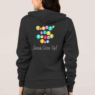 26.2 Never Give Up American Apparel Hoodie