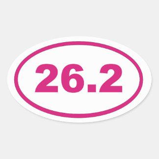 26.2 Pink Magenta Oval Sticker