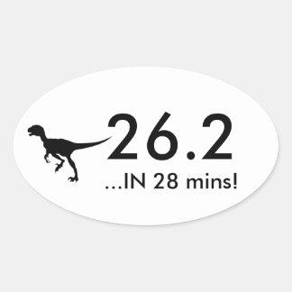 26.2 Raptor Oval Sticker