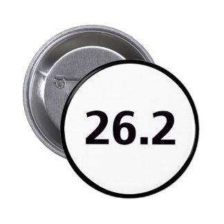 26.2 round 6 cm round badge