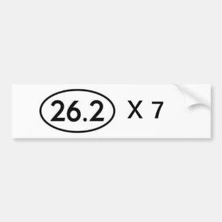 26,2 serial marathoner bumper sticker