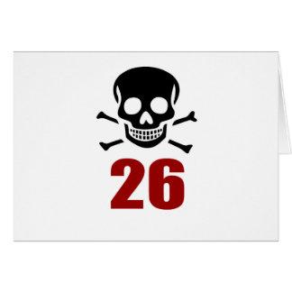 26 Birthday Designs Card