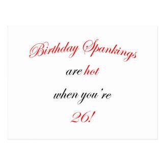26 Birthday Spanking Postcards