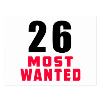 26 Most Wanted Funny Birthday Design Postcard