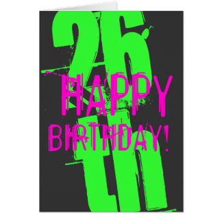 26th Birthday cards for men and women