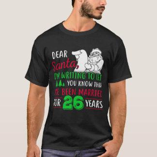 26th Christmas Tshirt, Fun Gift For Couple T-Shirt
