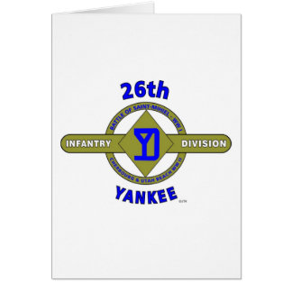 "26TH INFANTRY DIVISION ""YANKEE"" CARD"