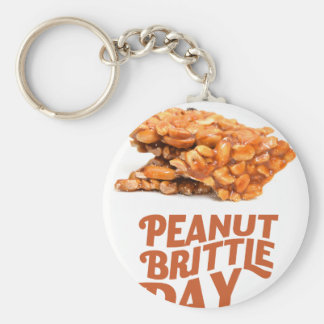26th January - Peanut Brittle Day Basic Round Button Key Ring