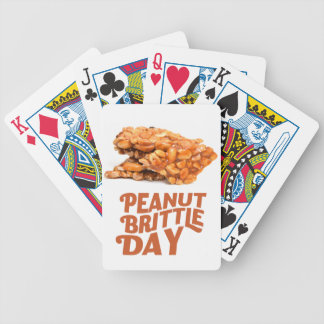 26th January - Peanut Brittle Day Bicycle Playing Cards