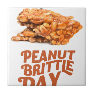 26th January - Peanut Brittle Day Ceramic Tile