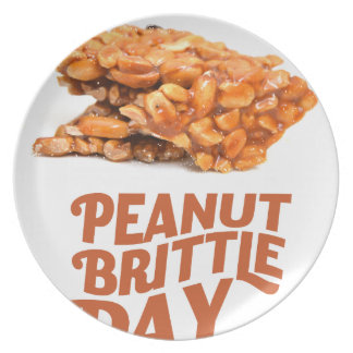 26th January - Peanut Brittle Day Dinner Plates