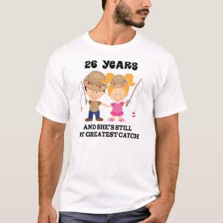 26th Wedding Anniversary Gift For Him T-Shirt