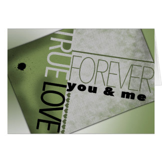 271828 TRUE LOVE FOREVER YOU AND ME EXPRESSIONS TY CARD