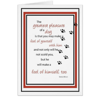 2748 Dog Quote Pawprints Birthday Card