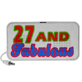 27 and Fabulous Birthday Designs Travel Speakers