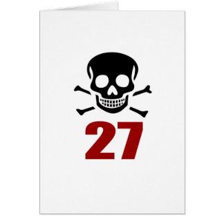 27 Birthday Designs Card