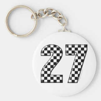 27 checkers flag number key ring