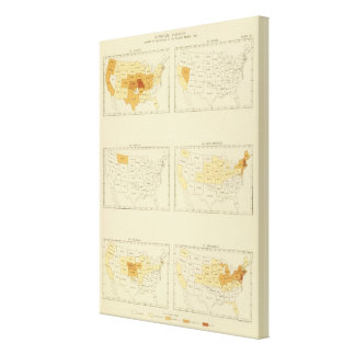 27 Interstate migration 1890 MONJ Stretched Canvas Prints