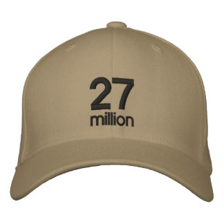 27 million embroidered baseball cap