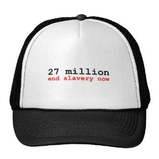 27 million end slavery now mesh hats