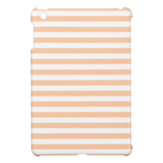 27 - Thin Stripes - White and Deep Peach iPad Mini Cases