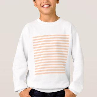 27 - Thin Stripes - White and Deep Peach Sweatshirt
