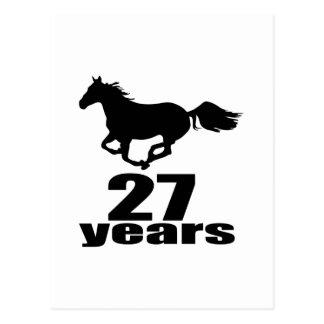 27 Years Birthday Designs Postcard