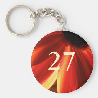 27th Birthday Basic Round Button Key Ring