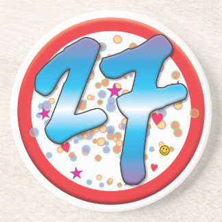27th Birthday Beverage Coasters