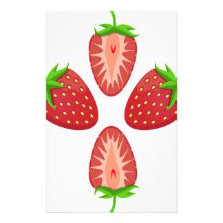 27th February - Strawberry Day - Appreciation Day Customized Stationery