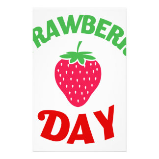 27th February - Strawberry Day Stationery