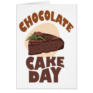 27th January - Chocolate Cake Day Card